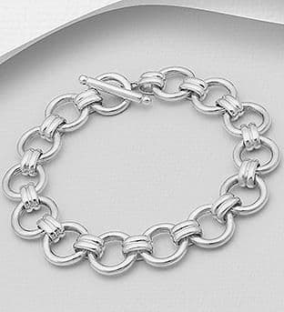 925 Sterling Silver Hand Crafted Solid Bracelet